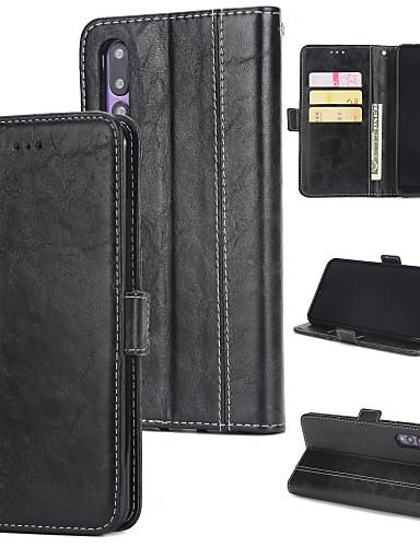 Θήκη Za Huawei Huawei P20 Pro Novčanik / Utor za kartice / Zaokret Stražnja maska Jednobojni Tvrdo PU koža