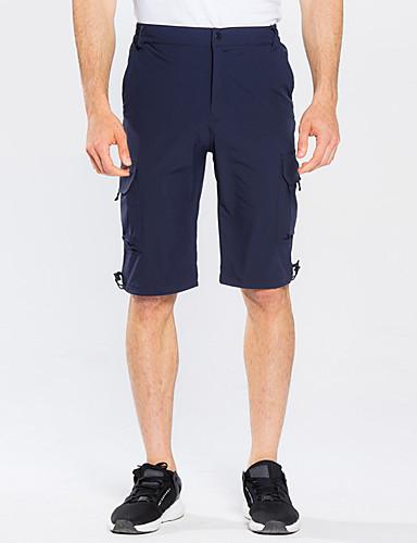 cheap Outdoor Clothing-Men's Hiking Shorts Outdoor Breathable Quick Dry Sweat-Wicking Spring Summer Shorts Bottoms Camping / Hiking Fishing Climbing Grey Khaki Dark Navy XL XXL XXXL - FLYGAGa