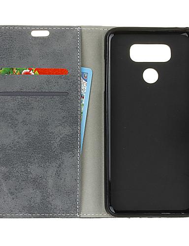 Θήκη Za LG LG V40 Novčanik / Utor za kartice / Zaokret Stražnja maska Jednobojni Tvrdo PU koža