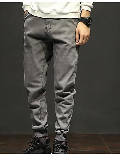 abordables Ropa de Hombre-Hombre Básico Tallas Grandes Diario Pantalones de Deporte Pantalones - Un Color Gris 36 38 42