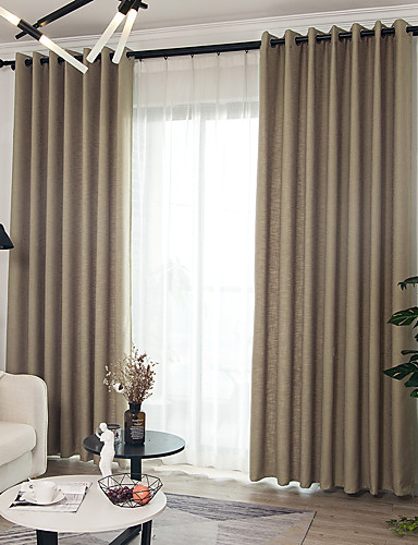 Country Blackout Curtains Drapes Two Panels Curtain Dining Room
