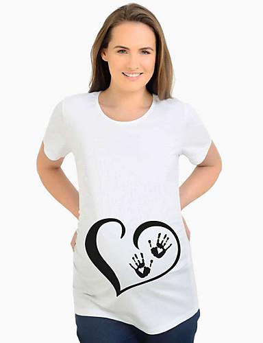Majčinski Majica s rukavima Žene Dnevno Crtani film Obala