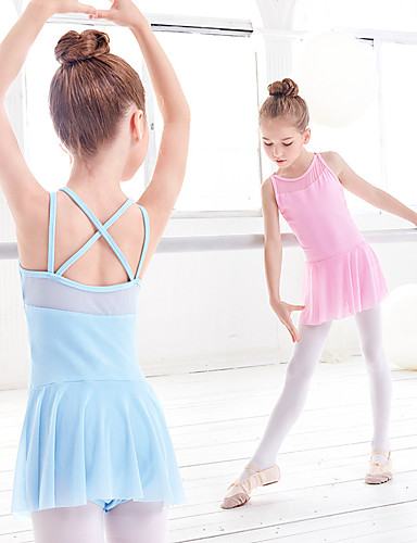 preiswerte Ballettbekleidung-Ballett Kleider Mädchen Training / Leistung Elastan / Lycra Überkreuzte Rüschen / Kombination Kleid