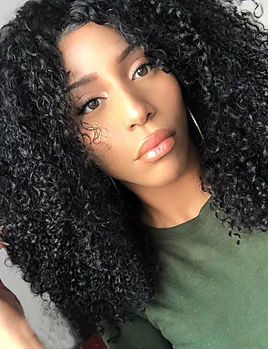 povoljno Perike s ljudskom kosom-Virgin kosa Perika s U-otvorom Perika Srednji dio stil Brazilska kosa Kinky Curly Natural Perika 250% Gustoća kose s dječjom kosom Najbolja kvaliteta Gust Afro-američka perika s isječkom Žene Srednja