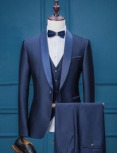 povoljno Svečana odijela-Jednobojni Kroj po mjeri Poliester Odijelo - Maramasti ovratnik Droit 1 bouton / odijela