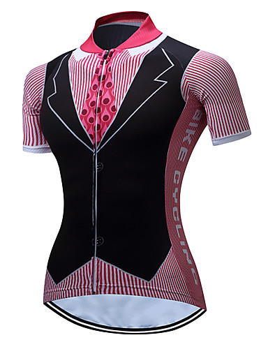 cheap Cycling Clothing-TELEYI Women's Short Sleeve Cycling Jersey - Pink Plus Size Bike Jersey Top Breathable Moisture Wicking Quick Dry Sports Polyester Mountain Bike MTB Road Bike Cycling Clothing Apparel / Stretchy