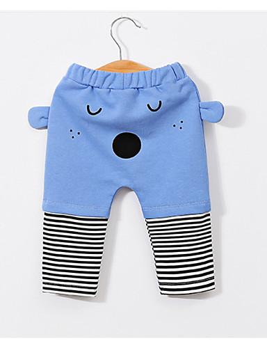 Bambino Da Ragazzo Essenziale Quotidiano Tinta Unita Manica Lunga Cotone - Poliestere Pantaloni Azzurro #07062365