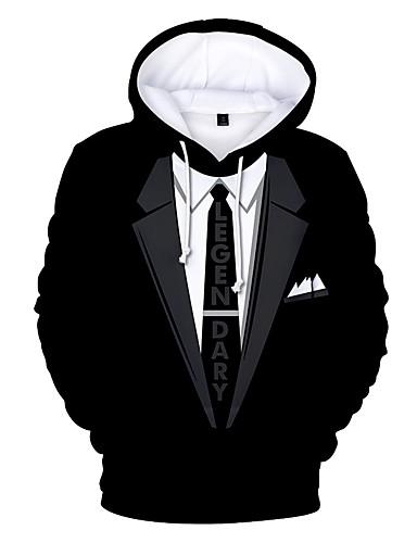 olcso Férfi pólók és pulóverek-Férfi Kapucnis felsőrész - Nyomtatott 0d4afae8a9
