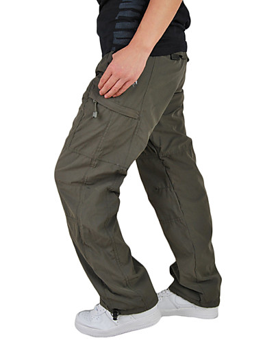eec5869413 Men's Hiking Cargo Pants Outdoor Windproof Wearable Multi-Pocket Winter  Cotton Pants / Trousers Multisport Army Green Green Grey XL XXL XXXL /  Stretchy