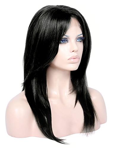 billige Blondeparykker med menneskehår-Ubehandlet hår Halvblonder uten lim Blonde Forside Parykk Lagvis frisyre Gratis del stil Brasiliansk hår Rett Parykk 130% 150% 180% Hair Tetthet med baby hår Naturlig hårlinje Afroamerikansk parykk