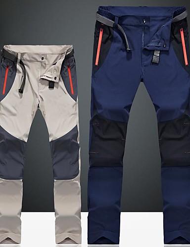 cheap Hiking Trousers & Shorts-Men's Hiking Pants Outdoor Windproof Rain Waterproof Fast Dry Quick Dry Spring Summer Pants / Trousers Camping / Hiking Hunting Climbing Dark Blue Dark Gray Khaki XXL XXXL 4XL / Stretchy