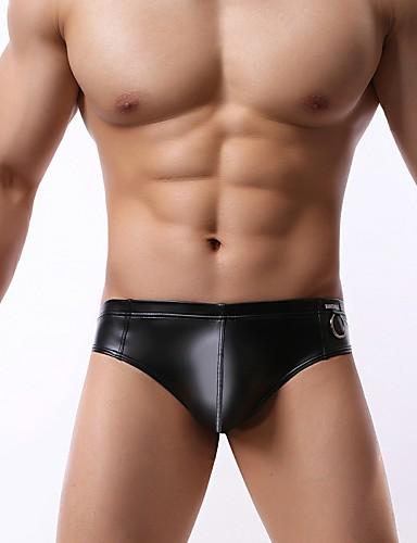 f1bf29935 Men s Briefs Underwear Solid Colored Low Waist