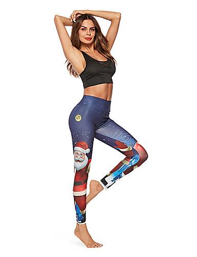 Dámské Sportovní Legging - Geometrický Středně vysoký pas 1d4c0c2835