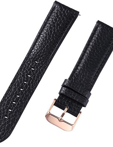 Gerçek Deri / Deri / Buzağı Tüyü Watch Band kayış için Siyah / Beyaz / Kırmızı 17cm / 6.69 inç / 18cm / 7 İnç / 19cm / 7.48 İnç 1cm / 0.39 İnç / 1.2cm / 0.47 İnç / 1.3cm / 0.5 İnç