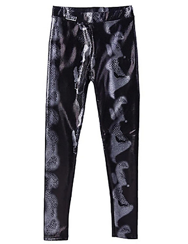1174b079e1 Women s Street chic Chinos Pants - Geometric High Waist Black