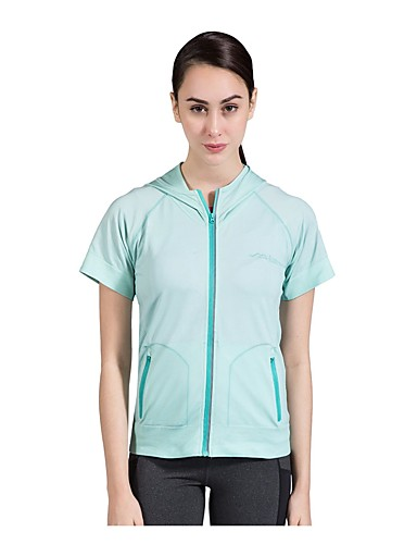 cheap Outdoor Clothing-SUMMITGLORY® Women's Short Sleeve Hiking Tee shirt Outdoor Summer Soft Seamless Tee / T-shirt Top POLY Chinlon Yellow Green Pink Camping / Hiking Traveling Back Country