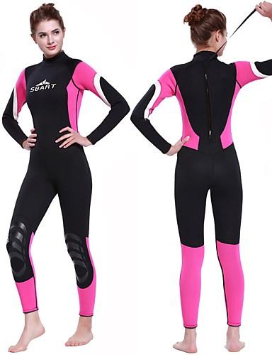 1078ab3c8e SBART Women s Full Wetsuit 3mm SCR Neoprene Diving Suit Long Sleeve Back  Zip Autumn   Fall Spring Summer   Winter   Micro-elastic