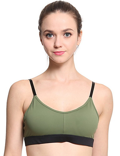 Bayanlar Sexy Tam Kaplama Sutyenler Spor Sutyen - Solid Polyester YAKUT Ordu Yeşili S M L