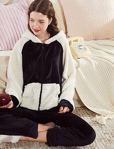 d504176187b8 Adults  Hoodie Kigurumi Pajamas Bear Onesie Pajamas Coral Velve Black    White Cosplay For Men and Women Animal Sleepwear Cartoon Festival   Holiday  Costumes