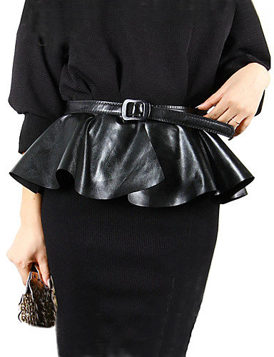 cheap Women's Accessories-Women's Active / Basic Wide Belt - Solid Colored Peplum