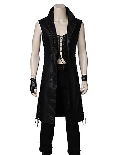 povoljno Anime kostimi-Inspirirana Devil May Cry Little Devil Anime Cosplay nošnje Japanski Cosplay Suits Jednobojni Bez rukávů Top / Hlače / Rukavice Za Muškarci