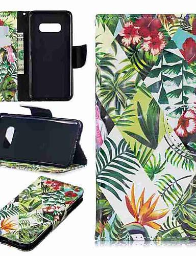 Etui Käyttötarkoitus Samsung Galaxy S9 / S9 Plus / S8 Plus Lomapkko / Korttikotelo / Tuella Suojakuori Kasvit Kova PU-nahka