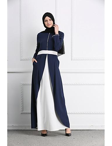 Serio Per Donna Essenziale Moda Città Abaya Caftano Vestito - Collage, Monocolore Maxi #07184069 Facile Da Lubrificare