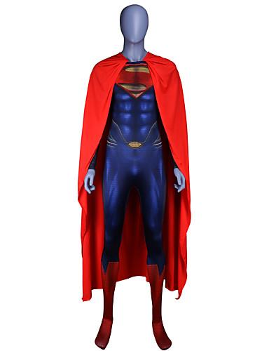 Zentai öltözékek Felszerelések Superman Gyermek Szerepjáték Jelmezek Mindszentek napja Kék Kollázs Elasztán Lycra ® Fiú Mindszentek napja Farsang Álarcos mulatság / Köpeny