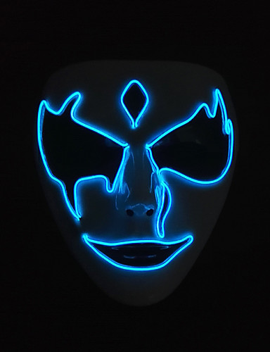 abordables Cosplay & Disfraces-Parca Máscara Adulto Hombre Halloween Halloween Mascarada Festival / Celebración Plásticos Azul Traje carnaval LED
