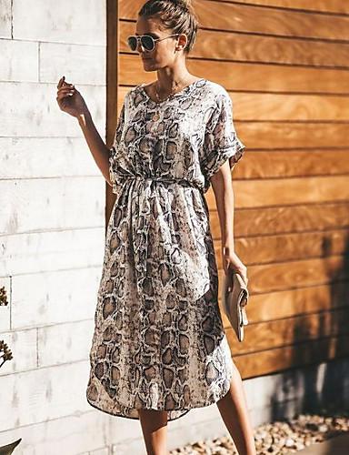 economico Vestiti da donna-Per donna Essenziale Swing Vestito - Con stampe a566756dae1