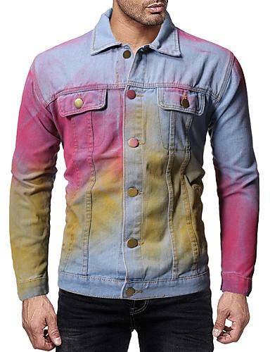 Hombre Talla EU / US Trajes de chaqueta, Cuello Inglés Un Color Azul Piscina L