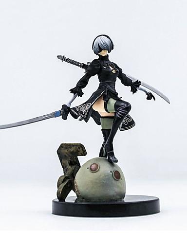 billige Anime cosplay-Anime Action Figurer Inspirert av Nier: Automata 2B PVC 13 cm CM Modell Leker Dukke