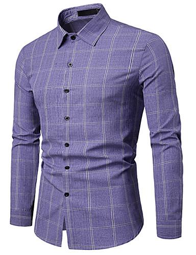 Hombre Camisa A Cuadros Azul Piscina L