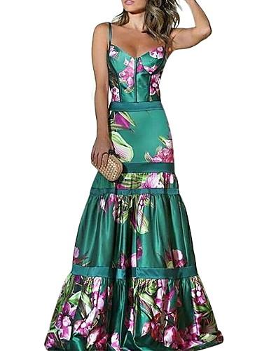 economico Vestiti da donna-Per donna Attillato Vestito Con bretelline Maxi 77566b17108