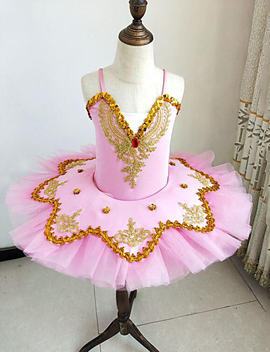 22eefc3f27 Kids' Dancewear / Ballet Outfits / Tutus & Skirts Girls' Training /  Performance Polyester / Mesh Beading / Embroidery / Split Joint Sleeveless  Dress / ...