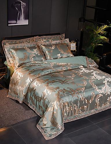 billige Rom-Sengesett Luksus Polyester Mønstret 4 delerBedding Sets / 400 / 4stk (1 Dynebetræk, 1 Lagen, 2 Pudebetræk)