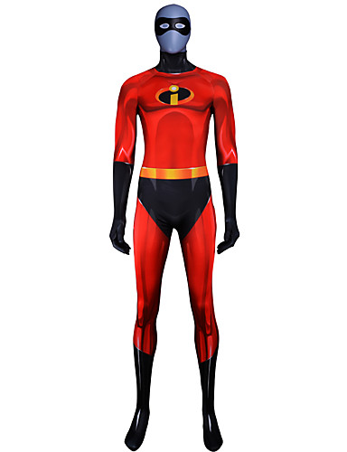 Zentai öltözékek Felszerelések Superman Ninja Felnőttek Szerepjáték Jelmezek Mindszentek napja Rubin Színes Elasztán Lycra ® Férfi Mindszentek napja Farsang Álarcos mulatság