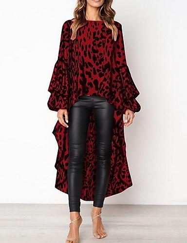 povoljno Ženske majice-Bluza Žene Leopard Braon