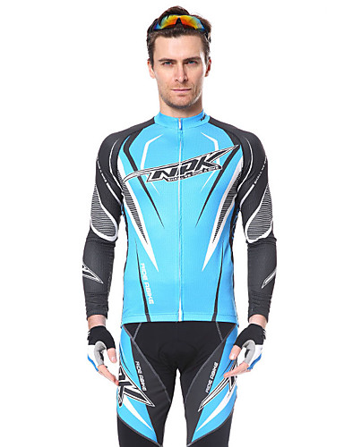 cheap Cycling Clothing-Men's Cycling Jersey with Tights - Golden+Silver Black / Yellow Sky Blue+White Bike Sports Fashion Triathlon Clothing Apparel / Stretchy