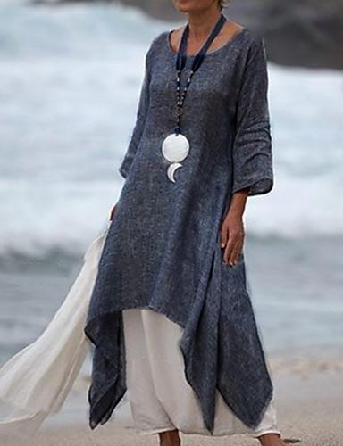 hesapli Kadın Elbiseleri-Kadın's Salaş Çan Gömlek Elbise Midi