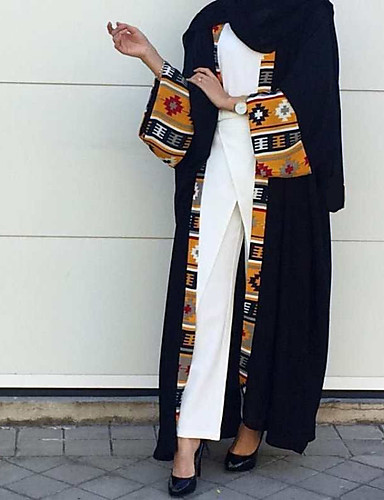 e2d34badb411 Γυναικεία Βασικό Κομψό στυλ street Αμπάγια Καφτάνι Φόρεμα - Συνδυασμός  Χρωμάτων