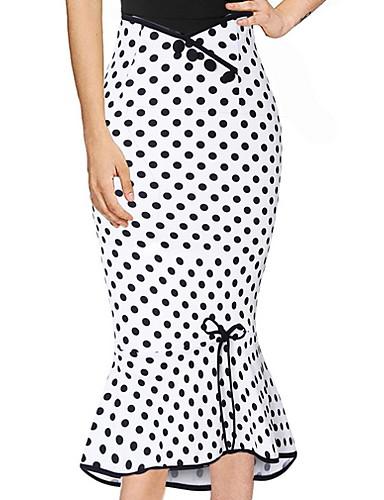 e6f64c18a1e Women s Street chic Bodycon Skirts - Polka Dot