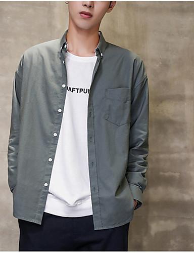 Pánské - Jednobarevné Košile Bílá L