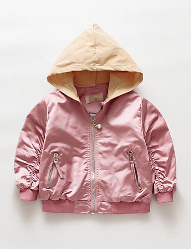 Dítě Dívčí Aktivní / Punk & Gothic Jednobarevné Výšivka Standardní Bundičky a kabáty Rubínově červená / Toddler