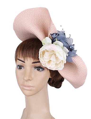billige Hatte & Imponeringer-polyester / Nett / PP+ABS Kentucky Derby Hat / fascinators / blomster med Blomst 1 Deler Bryllup / Fest / aften Hodeplagg