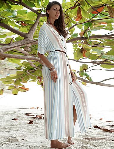 voordelige Maxi-jurken-Dames Boho Street chic Recht Wijd uitlopend Jurk - Geometrisch Abstract Maxi