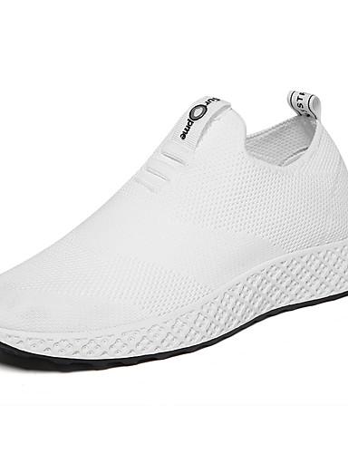 d861e35fac5 Ανδρικά Παπούτσια άνεσης Ελαστικό ύφασμα Ανοιξη καλοκαίρι Αθλητικό /  Κολεγιακό Αθλητικά Παπούτσια Τρέξιμο Αναπνέει Λευκό / Μαύρο / Κόκκινο