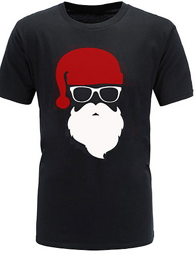 Miesten Pyöreä kaula-aukko Piirretty T-paita Harmaa