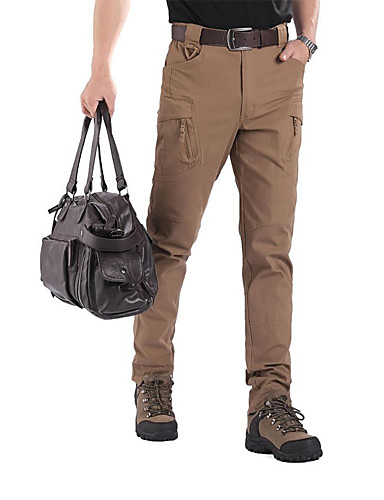 cheap Hiking Trousers & Shorts-Men's Hiking Pants Hiking Cargo Pants Outdoor Windproof Fast Dry Breathability Winter Cotton Spandex Pants / Trousers Outdoor Exercise Military Brown Green Khaki L XL XXL