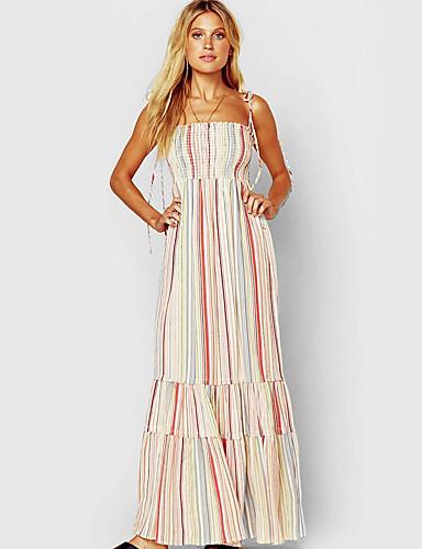 0a315d5924fc Per donna Essenziale Fodero Vestito A strisce Maxi